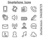 smart phone icon set in thin... | Shutterstock .eps vector #546338725