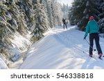 cross country skiers running a...   Shutterstock . vector #546338818