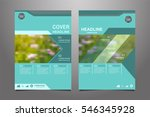 green annual report leaflet... | Shutterstock .eps vector #546345928