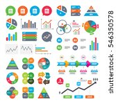 business charts. growth graph.... | Shutterstock .eps vector #546350578