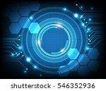 digital business   vector tech... | Shutterstock .eps vector #546352936