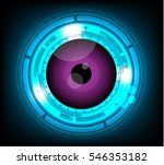 vector violet eyeball future... | Shutterstock .eps vector #546353182