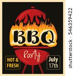 retro banner with bbq grill in... | Shutterstock .eps vector #546359422