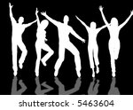 a people group jumping and... | Shutterstock . vector #5463604