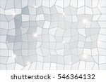 polygon background of silver... | Shutterstock . vector #546364132