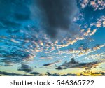 small clouds at sunset | Shutterstock . vector #546365722