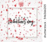 happy valentines day lettering...   Shutterstock .eps vector #546366205