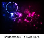 colorful  circle abstract light ... | Shutterstock .eps vector #546367876