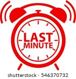 last minute clock red icon ... | Shutterstock .eps vector #546370732