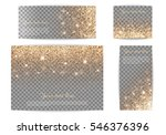 set of banners with golden... | Shutterstock .eps vector #546376396