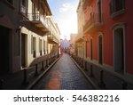 san juan streets on a sunset   Shutterstock . vector #546382216