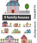 9 premium family houses. vector | Shutterstock .eps vector #54638974