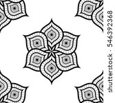 delicate lotus flower tiled... | Shutterstock .eps vector #546392368