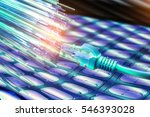 network cables closeup with... | Shutterstock . vector #546393028