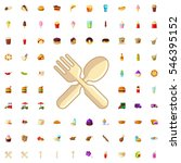 fork and spoon icon... | Shutterstock .eps vector #546395152