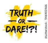 truth or dare     party game... | Shutterstock .eps vector #546402466