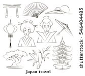 japan icon set. travel concept. ... | Shutterstock . vector #546404485