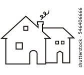 house  black contour  vector... | Shutterstock .eps vector #546406666