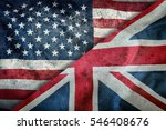 mixed flags of the usa and the... | Shutterstock . vector #546408676