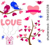 valentines day background with...   Shutterstock .eps vector #546410158