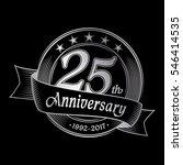 25th anniversary design... | Shutterstock .eps vector #546414535