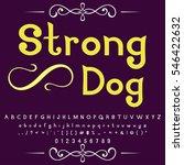 font script typeface set named... | Shutterstock .eps vector #546422632