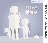 girl and boy. adoption. vector  ... | Shutterstock .eps vector #546427138