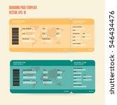 boarding pass template | Shutterstock .eps vector #546434476
