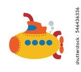 children's submarine | Shutterstock .eps vector #546436336