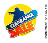 clearance sale banner in pop... | Shutterstock .eps vector #546437548