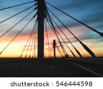 the road over the bridge in the ... | Shutterstock . vector #546444598