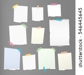 colorful note  notebook ... | Shutterstock .eps vector #546445645