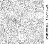 tracery seamless calming... | Shutterstock .eps vector #546446626