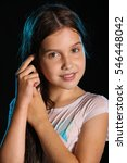 portrait of a beautiful young...   Shutterstock . vector #546448042