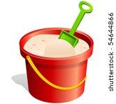 Sand Bucket And Shovel   Vecto...