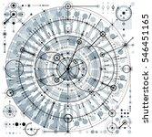 technical plan  engineering... | Shutterstock . vector #546451165