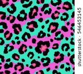 seamless leopard and zebra... | Shutterstock . vector #546453145