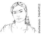 hand drawn portrait of white... | Shutterstock . vector #546454912