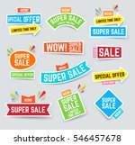 set of super sale and discounts ... | Shutterstock .eps vector #546457678