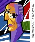 cubist great artist portrait | Shutterstock .eps vector #546459556