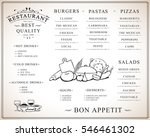 placemat design template ... | Shutterstock .eps vector #546461302