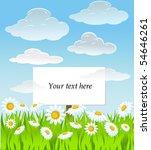 vector summer background. | Shutterstock .eps vector #54646261