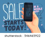 sale starts today for mobile... | Shutterstock .eps vector #546465922