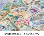 variety of middle east banknotes | Shutterstock . vector #546466792
