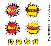 comic boom  wow  oops sound... | Shutterstock .eps vector #546467122