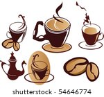 Set of coffee symbols