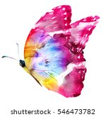 Stock photo watercolor butterfly isolated on white 546473782