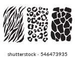 Stock vector animal print set 546473935