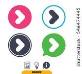 arrow sign icon. next button.... | Shutterstock .eps vector #546474445