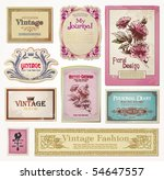 set of vector vintage tags | Shutterstock .eps vector #54647557